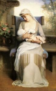 Еміль Леві. Юна мати годує дитину