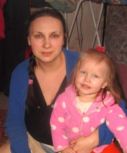 Ольга Жидилева с дочкой Машей