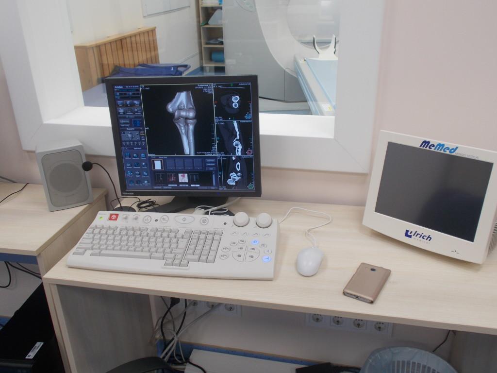изображение сустава, полученное путем компьютерной томографии (КТ)